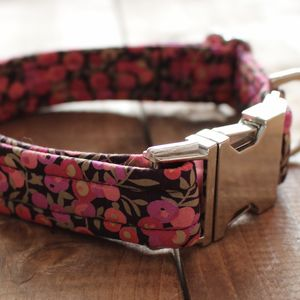 Tallulah Liberty Fabric Dog Collar - more