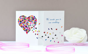 Butterfly Heart Wedding Invitation