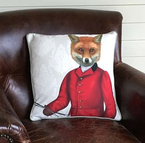 Fox Hunter Decorative Cushion - cushions