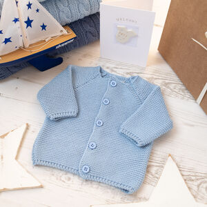 Boys Bubble Knitted Baby Cardigan