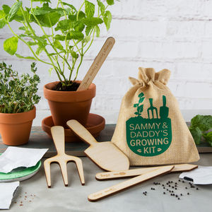 Personalised Father's Day Gardening Growing Kit - garden sale