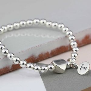 Personalised Solid Silver 'Tilly' Heart Bracelet - bracelets