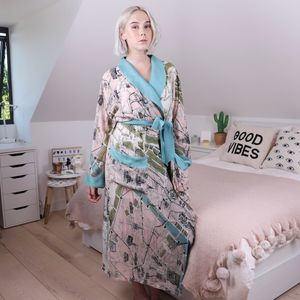 Streets Of Paris Map Dressing Gown - bathrobes