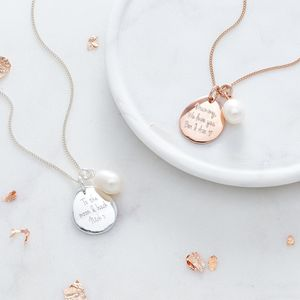 Personalised Memento Necklace - gifts for her