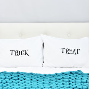 'Trick' Or 'Treat' Halloween Pillow Case Set - bed, bath & table linen