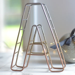 Ombre Metallic Wire Letter - decorative letters