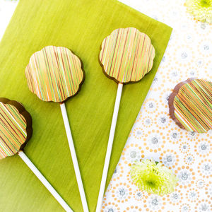 Gin Chocolate Lollipops Set Of Five