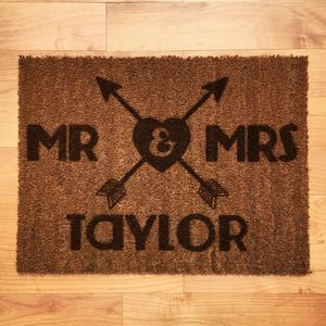 Personalised Couples Doormat - rugs & doormats
