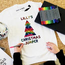 Colour Your Own Christmas Jumper Kit Personalised