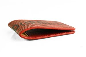 Reclaimed Fire Hose Double Card Holder - wallets