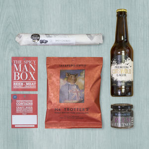 Spicy Man Box Beer - gifts for fathers