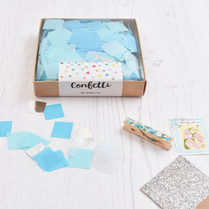 Blue Mix Party Confetti Box - table decorations