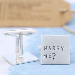 Marry Me Proposal Wedding Cufflinks - men's accessories
