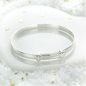 Personalised My First Diamond Christening Bangle - whatsnew
