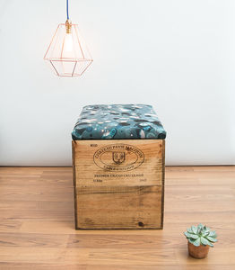 Reclaimed Wooden Wine Crate Blanket Box - kitchen