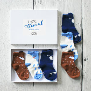 Little Box Of Woodland Animal Baby Socks - babies' socks & booties