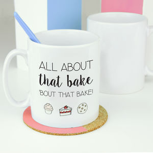 All About That Bake Emoji Mug - gifts for bakers