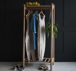 Nordic Wooden Open Wardrobe