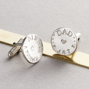 Personalised Disc Cufflinks - men's accessories