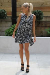 Monochrome Multi Dot Dress