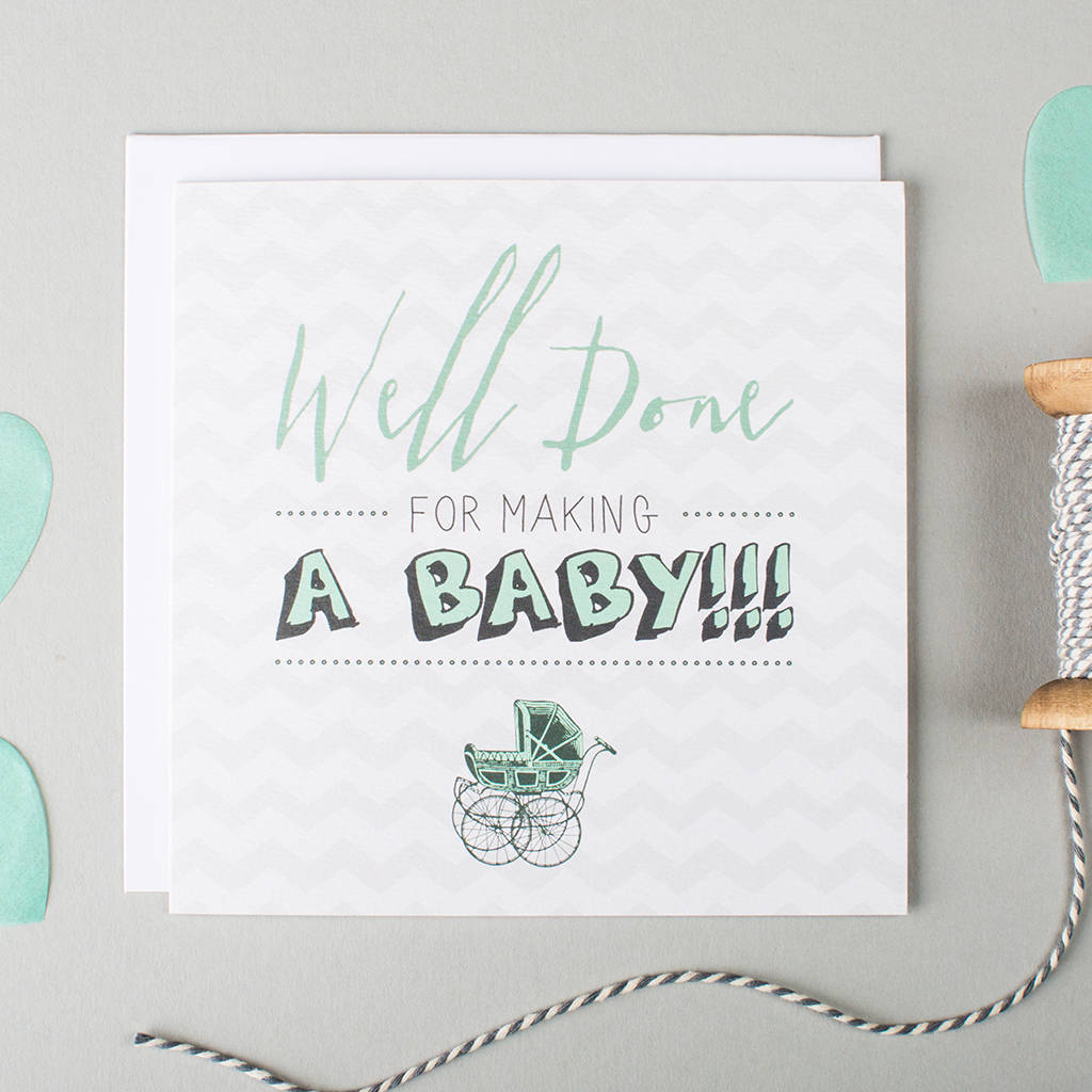 'Well Done' Pregnancy Card