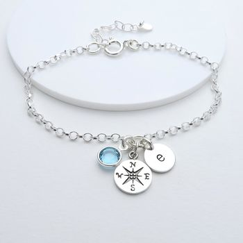 Personalised Compass Bracelet
