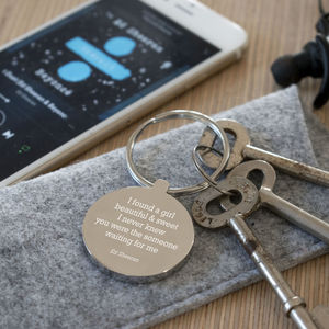 Favourite Song Lyric Keyring - keyrings