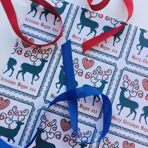 Personalised Reindeer Christmas Wrapping Paper