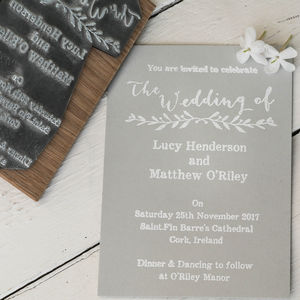 Invitation Stamp With Natural Sprig - what's new