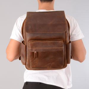 Vintage Leather Backpack Gift For Man