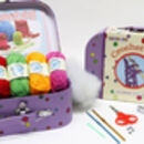 Children's Learn To Cross Stitch Or Crochet Kits
