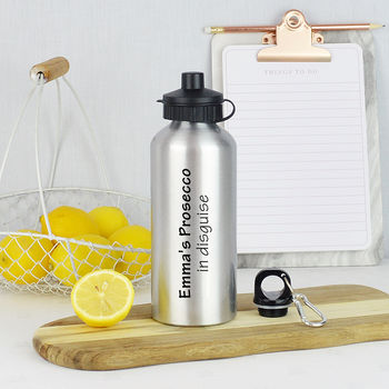 Personalised Prosecco In Disguise Water Bottle