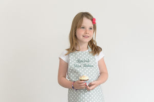 Personalised Child's Apron Madelaine Sage - aprons
