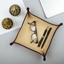 Italian Leather Desk Tidy / Coin Tray.'Ilario'