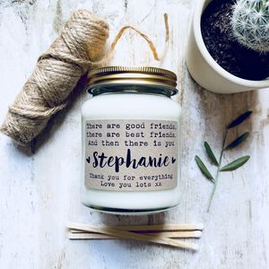 Personalised 'Good Friends' Soy Scented Candle - gifts for friends