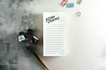 'Brain Storms' Letterpress List Pad