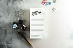 'Brain Storms' Letterpress List Pad - notepads & to do lists