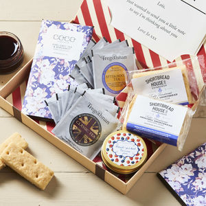 Afternoon Tea Letter Box Hamper With British Grown Tea - 60th birthday gifts