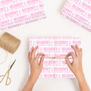 Personalised Letterpress Mother's Day Wrapping Paper