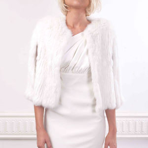 Ultra Soft Bridal Fur Cape In Snow - women's fashion