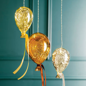 Hanging Mirrored Metallic Balloon Lights - children's lighting