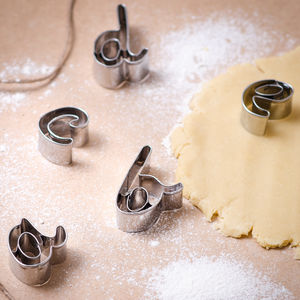 Script Letter Biscuit Cutters - cookie cutters