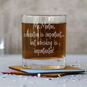 Personalised 'Teachers' Tumbler Glass - teacher gifts