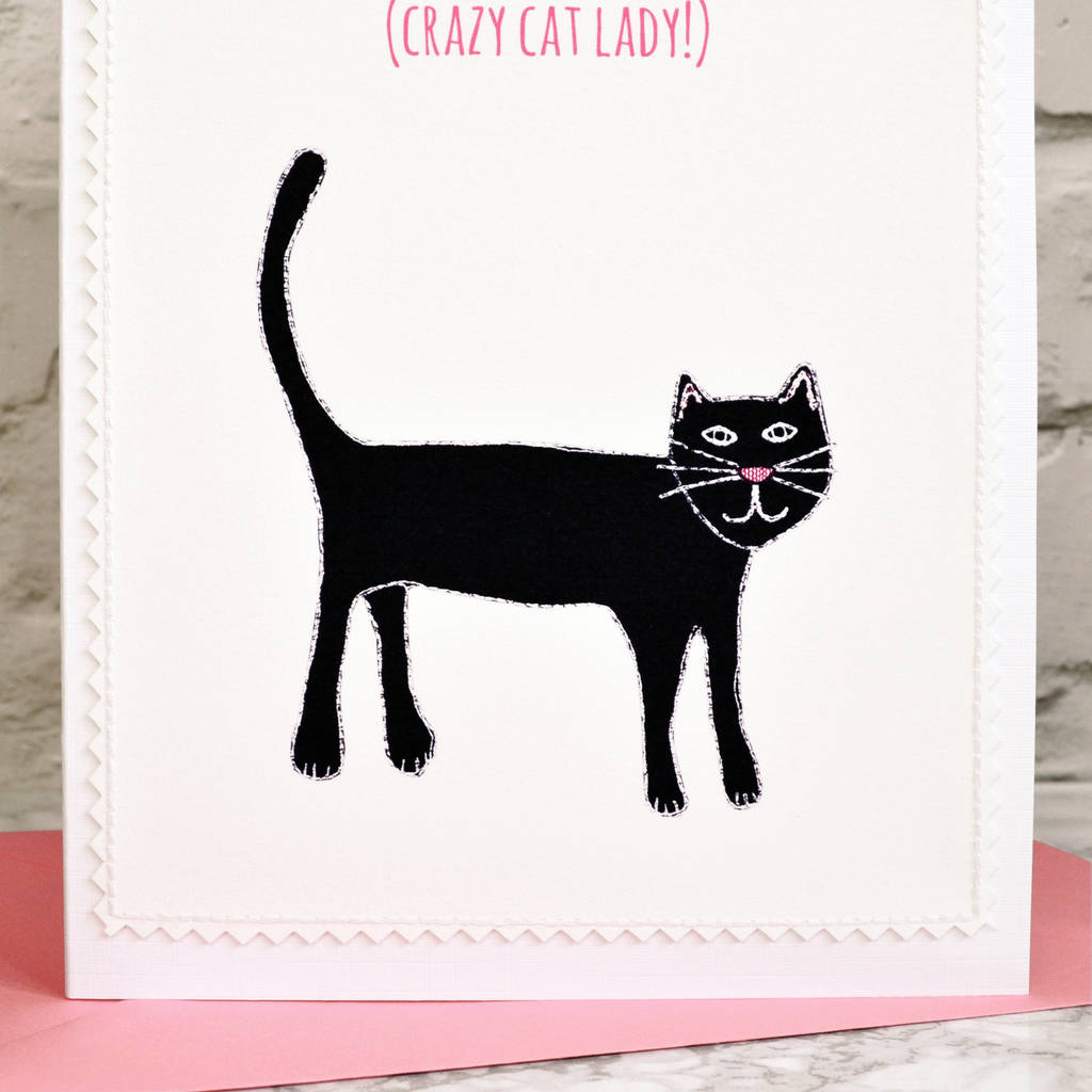 Personalised Birthday Card For Cat Lovers