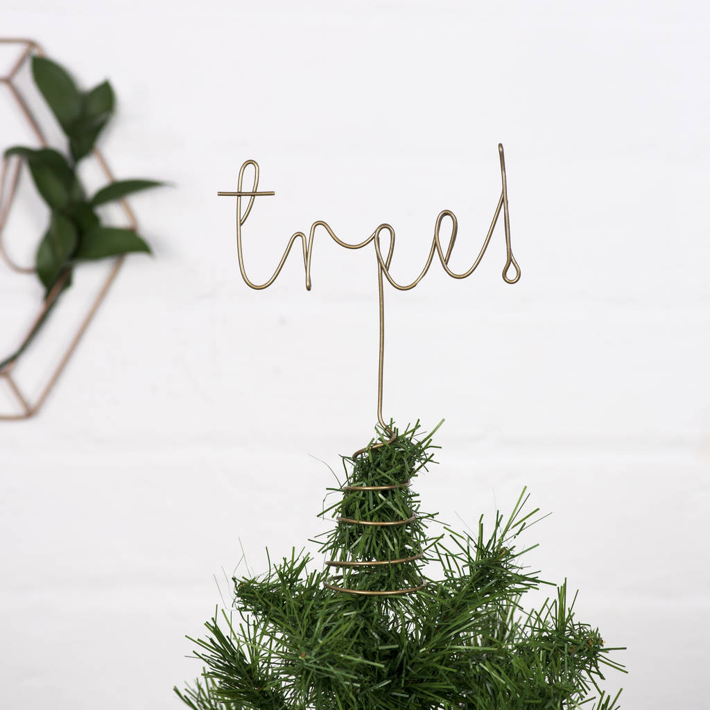 wire christmas tree topper - Wire Christmas Tree