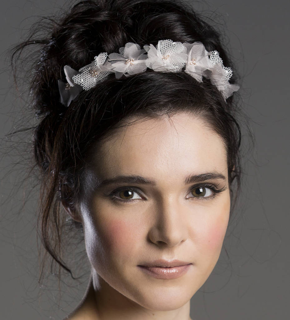 Florrie Blush Pink Silk Flower Headband By Lovebysusie