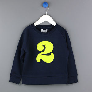 Age Two Sweatshirt In Navy/Lime Or Grey Marl/Pink - t-shirts & tops