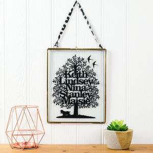 Family Tree Papercut - personalised