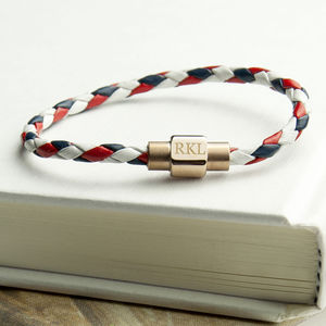 Personalised Men's Nautical Leather Bracelet