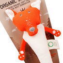 Organic Fox Soft Toy Rattle